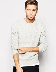 Jack Wills Jumper With Cable Knit Grey