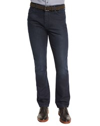 Ermenegildo Zegna Cotton Silk Five Pocket Denim Jeans Dark Indigo Dkindi