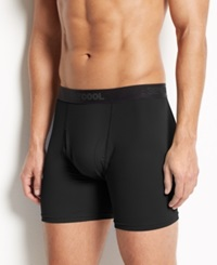 32 Degrees Cool By Weatherproof Men's Athletic Performance Boxer Briefs Black