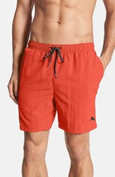 Men's Tommy Bahama 'The Naples Happy Go Cargo' Swim Trunks Red Hot