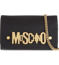 Moschino Leather Logo Wallet Black