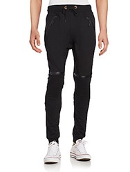 American Stitch French Terry Moto Joggers Black