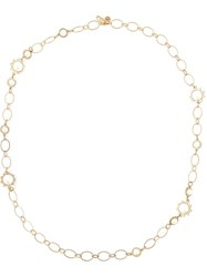 Tory Burch Pearl Chain Necklace Metallic