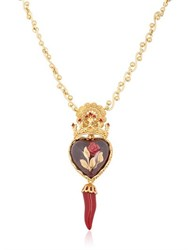 Dolce And Gabbana Sacred Heart Rose Necklace