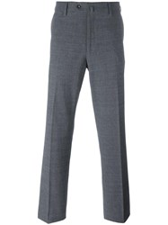 Loro Piana Pleated Tapered Trousers Grey
