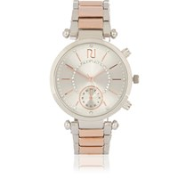 River Island Womens Silver And Rose Gold Tone Diamante Watch