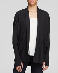 Alternative Apparel Alternative Wrap Cardigan Eco Jersey Rib Sleeve Eco True Black