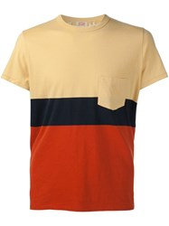 Levi's Vintage Clothing Colour Block T Shirt Yellow And Orange