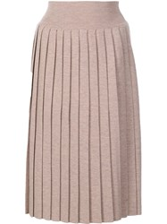 Vivienne Westwood Red Label Pleated Knit Skirt Brown