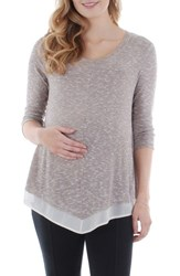Everly Grey Women's Regina Maternity Swing Top Cocoa