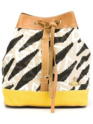 Vivienne Westwood Anglomania Zebra Print Backpack Multicolour