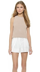 3.1 Phillip Lim Ribbed Knit Crop Tank Beige