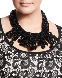 Laura Beaded Necklace Women's Black Marina Rinaldi