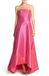 Women's Theia Satin High Low Ballgown And Shawl