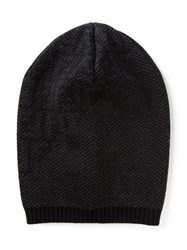 Fendi Herringbone Beanie Black