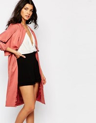 Y.A.S Aura Loose Trench Coat Whitered Rose