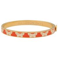 Halcyon Days Butterfly Skinny Bangle Orange Gold