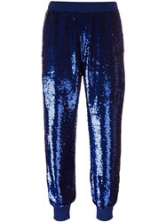 Ashish Sequined Tapered Trousers Blue