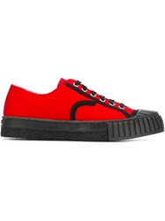 Adieu Paris Ribbed Toe Cap Sneakers Red