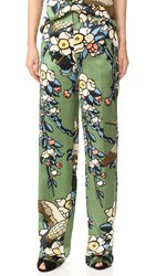 Dsquared Cherry Blossom Pants Green
