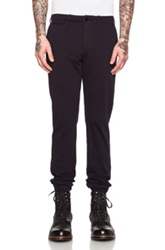 Nlst Cotton Chino Jogger Pants In Blue