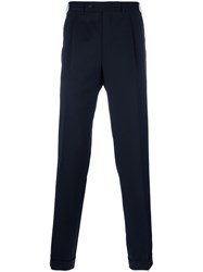 Canali Tapered Trousers Blue