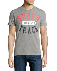 Superdry Royal Trackster Graphic Tee Concrete Jasper