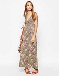 Yumi Maxi Dress In Paisley Print Multi