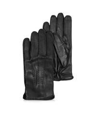 Moreschi Canada Black Leather Men's Gloves W Cashmere Lining