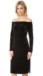 Three Dots Velour Dress Black