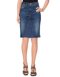 Fornarina Denim Denim Skirts Women Blue