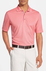 Men's Bobby Jones 'Xh20 Pencil Stripe' Regular Fit Four Way Stretch Golf Polo Nantucket Red