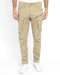 G Star Army Beige Rovic Zip 3D Cargo Trousers