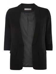 Dorothy Perkins Petite Ruched Blazer Black