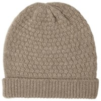 John Lewis Cashmere Cable Beanie Hat Toast