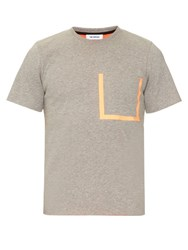 Tim Coppens Taped Cotton Blend Jersey T Shirt Grey Multi