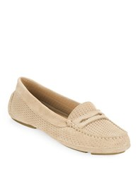 Aquatalia By Marvin K Sawyer Suede Loafers Sand