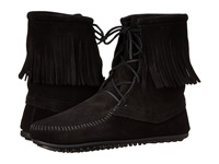 Minnetonka Tramper Ankle Hi Boot Black Suede Women's Pull On Boots