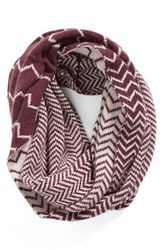 Women's Halogen Chevron Jacquard Wool And Cashmere Infinity Scarf Pink Pink Combo