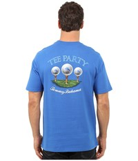 Tommy Bahama Tee Party T Shirt Cobalt Glass Men's T Shirt Blue