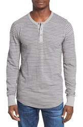 Lucky Brand Men's Stripe Henley Indigo Grey