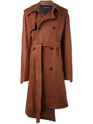 Incarnation Asymmetric Trench Coat Brown