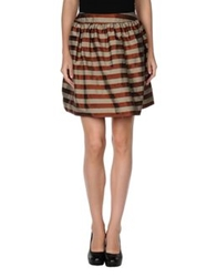 Galliano Mini Skirts Copper