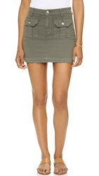 7 For All Mankind Utility Pocket Miniskirt Moss
