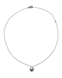 Damiani 18K White Gold Diamond Circle Pendant Necklace Women's