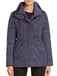 Creenstone Chevron Quilted Jacket Navy