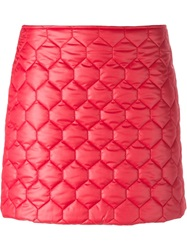 Au Jour Le Jour Quilted Mini Skirt Red