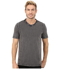 Calvin Klein Jeans Short Sleeve Wash Story V Neck Smoked Pearl Men's Short Sleeve Knit Gray
