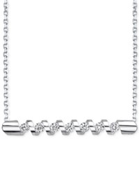 Sirena Energy Diamond Twist Bar Necklace 1 4 Ct. T.W. In 14K Gold Or White Gold