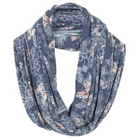 Fat Face Butterfly Print Snood Slate Blue Multi